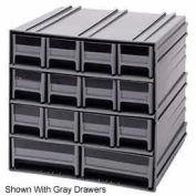 "Quantum Interlocking Storage Cabinet QIC-12123 - 11-3/4""Wx11-3/8""Dx11""H - 14 Red Drawers"