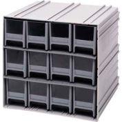 "Quantum Interlocking Storage Cabinet QIC-122 - 11-3/4""Wx11-3/8""Dx11""H - 12 Red Drawers"