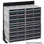 """Quantum QIC-124-122 24""""H Single Sided Floor Stand with 48 Gray Drawer Interlocking Storage Cabinet"""