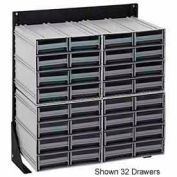 """Quantum QIC-148-83 48""""H Single Sided Floor Stand with 64 Gray Drawer Interlocking Storage Cabinet"""