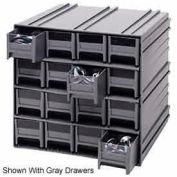 "Quantum Interlocking Storage Cabinet QIC-161 - 11-3/4""Wx11-3/8""Dx11""H - 16 Red Drawers"