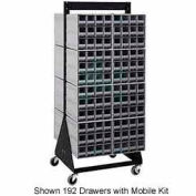"Quantum QIC-224-83 24""H Double Sided Floor Stand with 64 Gray Drawer Interlocking Storage Cabinet"