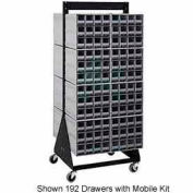 """Quantum QIC-270-64 70""""H Double Sided Floor Stand with 144 Gray Drawer Interlocking Storage Cabinet"""