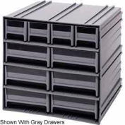 "Quantum Interlocking Storage Cabinet QIC-4163 - 11-3/4""Wx11-3/8""Dx11""H - 10 Ivory Drawers"