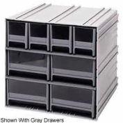 "Quantum Interlocking Storage Cabinet QIC-4244 - 11-3/4""Wx11-3/8""Dx11""H - 8 Blue Drawers"