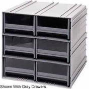 "Quantum Interlocking Storage Cabinet QIC-64 - 11-3/4""Wx11-3/8""Dx11""H - 6 Blue Drawers"