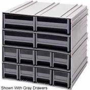 "Quantum Interlocking Storage Cabinet QIC-8143 - 11-3/4""Wx11-3/8""Dx11""H - 12 Ivory Drawers"
