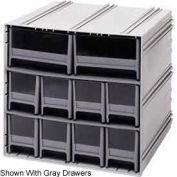 "Quantum Interlocking Storage Cabinet QIC-8224 - 11-3/4""Wx11-3/8""Dx11""H - 10 Blue Drawers"
