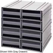 "Quantum Interlocking Storage Cabinet QIC-83 - 11-3/4""Wx11-3/8""Dx11""H - 8 Blue Drawers"