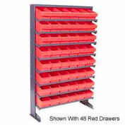 """Quantum QPRS-501 Single Sided Rack 12""""x36""""x60"""" with 72 Yellow Euro Drawers"""