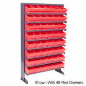 """Quantum QPRS-567 Single Sided Rack 12""""x36""""x60"""" with 44 Yellow Euro Drawers"""
