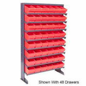 """Quantum QPRS-801 Single Sided Rack 12""""x36""""x60"""" with 24 Red Euro Drawers"""