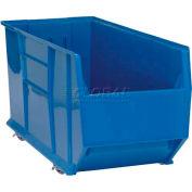 "Quantum Plastic Mobile Rack Bin, 16-1/2""W x 41-7/8""D x 17-1/2""H, Blue"