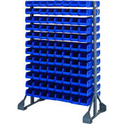 Quantum QRU-12D-220-192 Double Sided 12 Rail Unit With 192 QUS220 Ultra Stack & Hang Bins, Blue