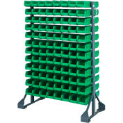 Quantum QRU-12D-220-192 Double Sided 12 Rail Unit With 192 QUS220 Ultra Stack & Hang Bins, Green