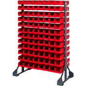 Quantum QRU-12D-220-192 Double Sided 12 Rail Unit With 192 QUS220 Ultra Stack & Hang Bins, Red