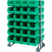 Quantum QRU-12D-240-48 Double Sided 12 Rail Unit With 48 QUS240 Ultra Stack & Hang Bins, Green