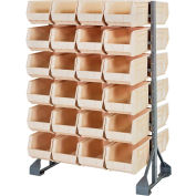 Quantum QRU-12D-240-48 Double Sided 12 Rail Unit With 48 QUS240 Ultra Stack & Hang Bins, Ivory
