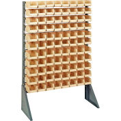 Quantum QRU-12S-220-96 Single Sided 12 Rail Unit With 96 QUS220 Ultra Stack & Hang Bins, Ivory
