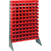 Quantum QRU-12S-220-96 Single Sided 12 Rail Unit With 96 QUS220 Ultra Stack & Hang Bins, Red