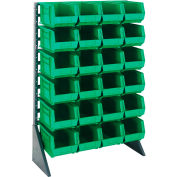 Quantum QRU-12S-240-24 Single Sided 12 Rail Unit With 24 QUS240 Ultra Stack & Hang Bins, Green