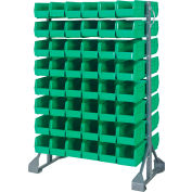 Quantum QRU-16D-230-96 Double Sided 16 Rail Unit With 96 QUS230 Ultra Stack & Hang Bins, Green