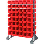 Quantum QRU-16D-230-96 Double Sided 16 Rail Unit With 96 QUS230 Ultra Stack & Hang Bins, Red