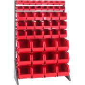 Quantum QRU-16S-220230240 Single Sided 16 Rail Unit w/ 16 QUS220, 18 QUS230, 12 QUS240 Bins Red