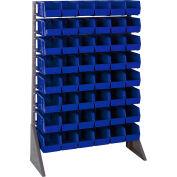 Quantum QRU-16S-230-48 Single Sided 16 Rail Unit With 48 QUS230 Ultra Stack & Hang Bins, Blue