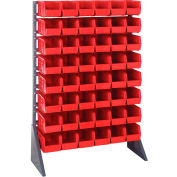 Quantum QRU-16S-230-48 Single Sided 16 Rail Unit With 48 QUS230 Ultra Stack & Hang Bins, Red