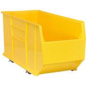 Quantum Mobile Hulk Plastic Stackable Storage Bin QUS998MOB 23-7/8 x 35-7/8 x 17-1/2 Yellow