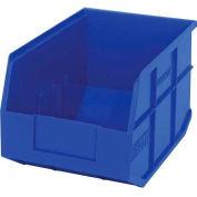 "Quantum Plastic Stackable Shelf Bin SSB423 8-1/4""W x 12""D x 7""H, Blue - Pkg Qty 6"