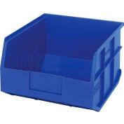 "Quantum Plastic Stackable Shelf Bin SSB425 11""W x 12""D x 7""H, Blue - Pkg Qty 6"