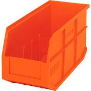 "Quantum Plastic Stackable Shelf Bin SSB441 6""W x 14""D x 7""H, Orange - Pkg Qty 12"