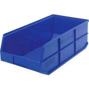 "Quantum Plastic Stackable Shelf Bin SSB485 11""W x 20-1/2""D x 7""H, Blue - Pkg Qty 6"