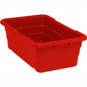 Cross Stack Nest Tote Tub TUB2516-8 -  25-1/8 x 16 x 8-1/2 Red - Pkg Qty 6