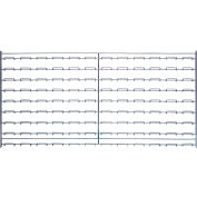 "Quantum Chrome Wire Louvered Panel WLP-1836C 36""W x 18""H, 175 Capacity Lbs."