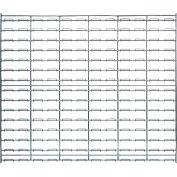 "Quantum Chrome Wire Louvered Panel WLP-3036C 36""W x 30""H, 175 Capacity Lbs."