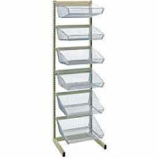 """Quantum WS-SS18-6BC2 18""""D Hanging Basket Bar System With 17-3/8""""Wx7-3/8""""H Baskets -(3)11""""D & (3)17"""""""