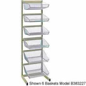 """Quantum WS-SS18-6BC3 18""""D Hanging Basket Bar System With (6) 17""""Dx17-3/8""""Wx7-3/8""""H Baskets"""