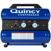 Quincy TTD GM185 Portable Electric Compressor, 2 HP, 4 Gallon, Twin Stack, 4 CFM