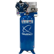 Quincy QT-54; Two-Stage Air Compressor, 5 HP, 60 Gallon, Vertical, 230V-1-Phase