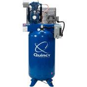 Quincy QT™ Pro 2-Stage Air Compressor w/Overload Pressure Switch, 5 HP, 80 Gal, Vert, 230V-1-Ph