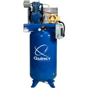 Quincy QT™ Pro Two-Stage Air Compressor, 5 HP, 80 Gallon, Vertical, 200V-3-Phase