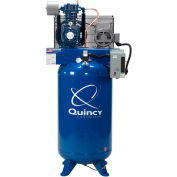 Quincy QT™ Pro Two-Stage Air Compressor, 5 HP, 80 Gallon, Vertical, 230V-1-Phase