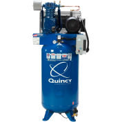 Quincy QT™ Max Two-Stage Air Compressor, 7.5 HP, 80 Gallon, Vertical, 230V-1-Phase
