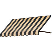 Awntech CR44-3KT, Window/Entry Awning 3-3/8'W x 4-11/16'H x 4'D Black/Tan