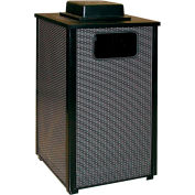 "Square Urn And Trash Can, Black, 24 gal.,18""Sq x 35""H"