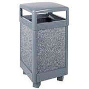 "Hinged Top Garbage Can, Gray, 29 gal., 21""Sq x 40""H"