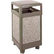"Hinged Top Garbage Can, Bronze/Gray, 29 gal., 21""Sq x 40""H"